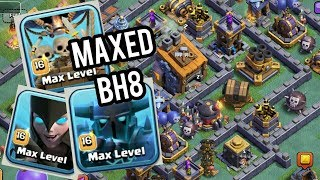 "GAMEPLAY OF NEW ""MAX BUILDERS HALL 8"" BASE! - Clash Of Clans ALL MAX UPGRADES LEAKED + MAXED TROOP !"