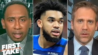 Gambar cover First Take reacts to Karl-Anthony Towns revealing his mother's battle with COVID-19 | First Take