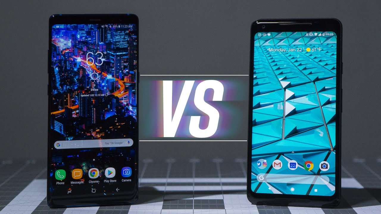 0eebeed25945 Note 8 vs Pixel 2 XL: The Best Android - YouTube