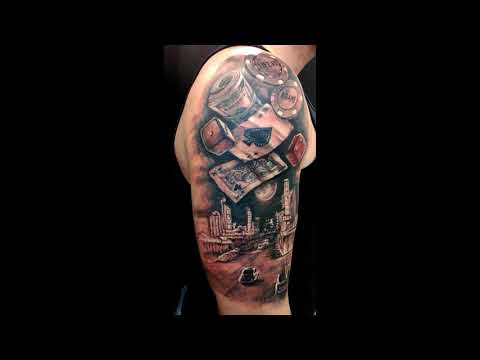 Casino motive tattoo by Setka Studio