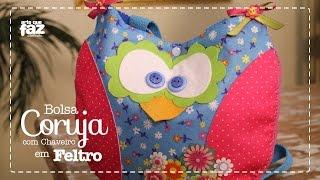 Bolsa Coruja com Chaveiro em Feltro (Vanessa Iaquinto)