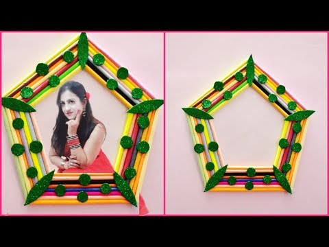 how to make photo frame, PHOTO FRAME / AWESOME PHOTO FRAME WITH PAPER / NEWSPAPER PHOTO FRAMES