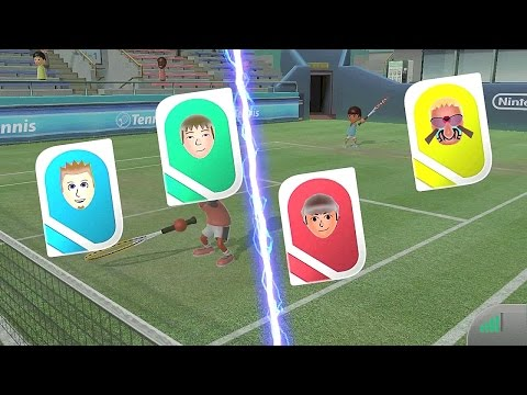 Wii Sports Club Online Multiplayer Tennis with Best Man Joseph