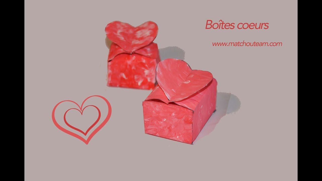Fabriquer un petite boite coeur pour petit cadeaux youtube - Comment fabriquer un coeur ...