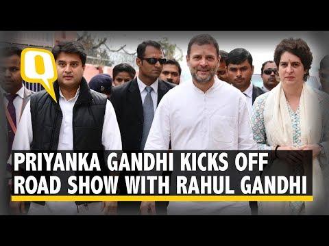 Priyanka, Rahul Gandhi Kick Off Mega Congress Roadshow in Lucknow