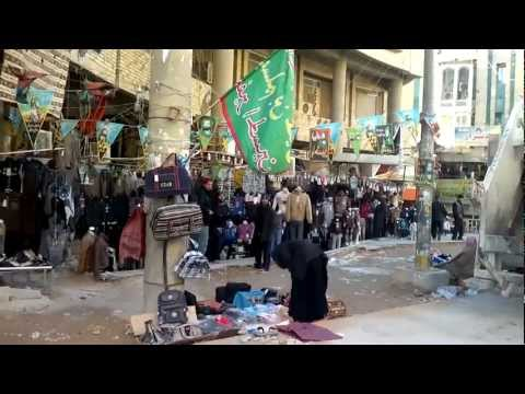 Iraq Najaf - Walking to the shrine of Imam Ali (a.s.) (HD)