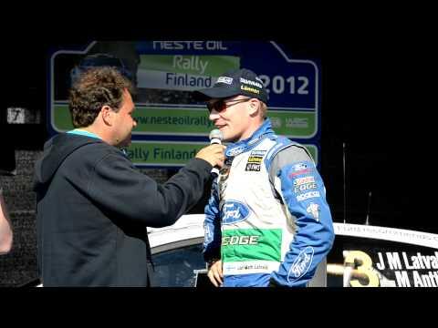 Jari-Matti Latvala short interview at the start of Nesterally Finland 2012
