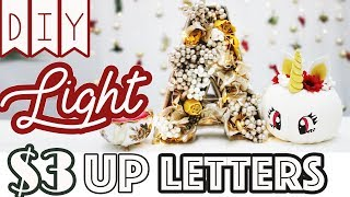 DIY: Dollar Tree Light UP Monogram Letters For $3-4/ea.