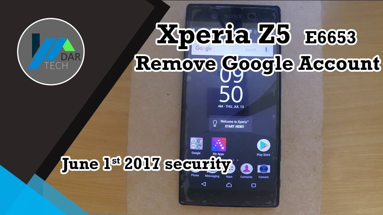 Sony Xperia Z5 [E6653] Remove Google Account lock on Android 7 1 1 | DarTech