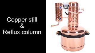 Overview - Copper Still & reflux column