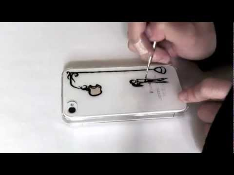 DIY : speed ink drawing on phone case | Kissing Under the Light