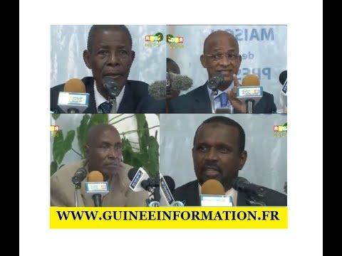 JT RTG DU 20.08.2013. Conférence de presse de l'opposition guinéenne à Conakry