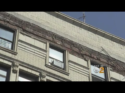 Building Facade Partially Collapses In The Bronx