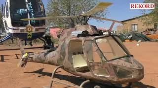 Man builds helicopter in back yard