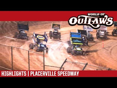 World of Outlaws Craftsman Sprint Cars Placerville  Speedway September 12, 2018 | HIGHLIGHTS