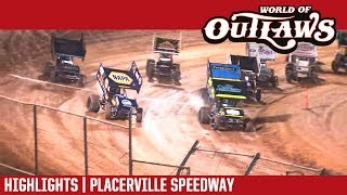World of Outlaws Craftsman Sprint Cars Placerville  Speedway September 12, 2018 | HIGHLIGHTS