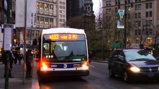 2012 NovaBus LFS Articulated 5961 On The M103 @ City Hall - Park Row
