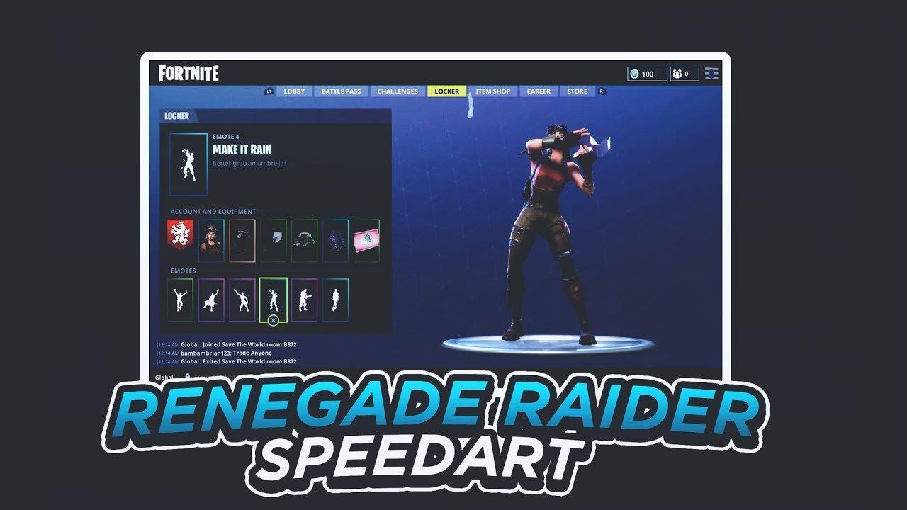 Renegade Raider Thumbnail: FORTNITE RENEGADE RAIDER THUMBNAIL SPEEDART