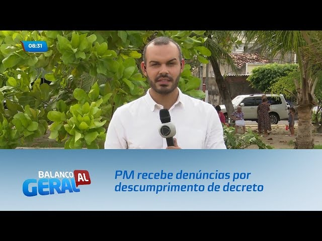Coronavírus: PM recebe denúncias por descumprimento de decreto