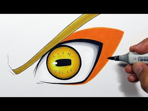 How To Draw Naruto's Sage Mode Eye - Step By Step Tutorial