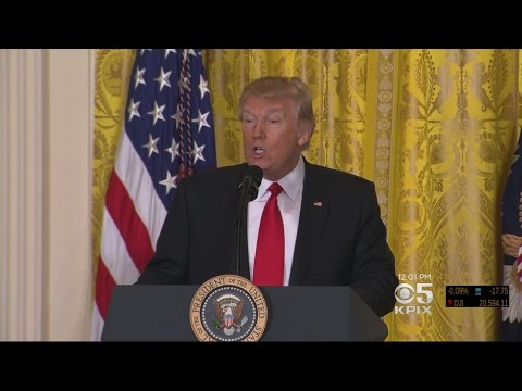 President Trump Complains About 'Unfair' Media Coverage Of Administration During Press Conference