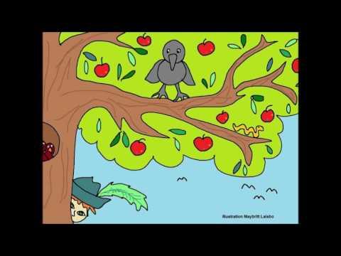 Syng med musen Metermål sang; højt på en gren en krage