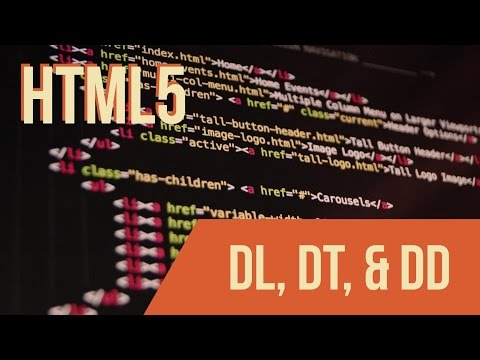 Learn HTML With Keith: DL, DT, And DD