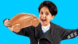 Sado and Mom staged a chocolate challenge