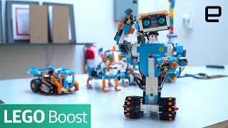 Lego Boost teaches kids how to bring blocks to life with code: http://engt.co/2hR1k55 Subscribe to Engadget on YouTube: http://engt.co/subscribe Get More ...