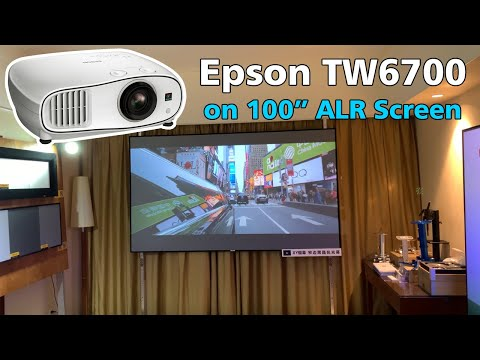 Epson TW6700 3LCD Projector On XY Screens ALR Black Crystal Screen