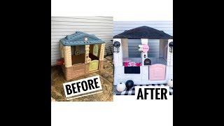 Little Tikes Playhouse Makeover | DIY | Remodel Kids House