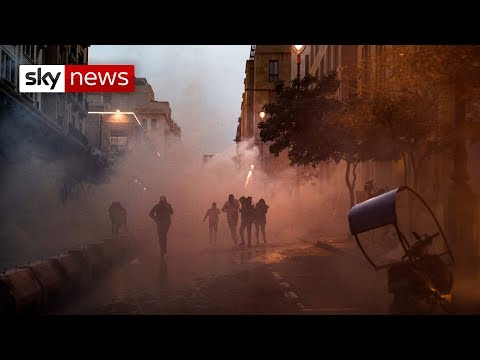 Hundreds Injured As Lebanon's Anti-government Protests Turn Violent