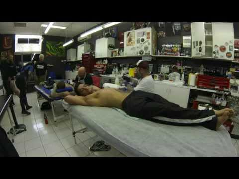 Benno, Adam and Grizz tattooing at Tattoo Power Canberra in Time Lapse