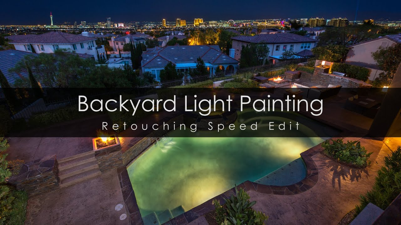 real estate architectural backyard light painting youtube