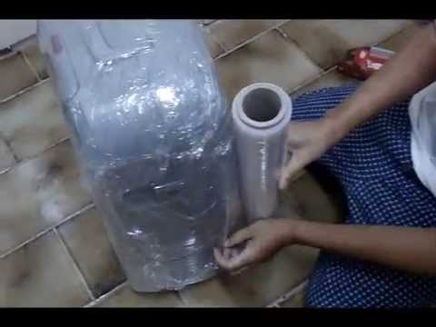 How to Wrap your Baggage Manually with Cling Film