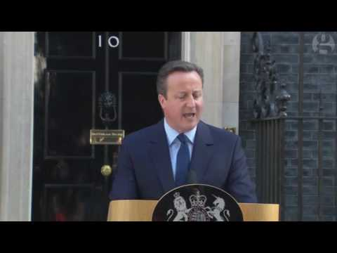 David Cameron resigns as British Prime Minister