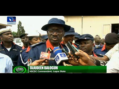 News Across Nigeria: NSCDC Parades Suspected Pipeline Vandals In Lagos
