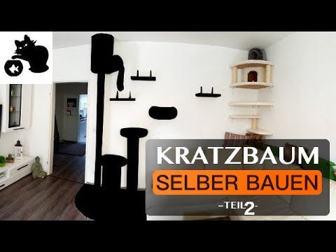 kratzbaum selber bauen diy kratzbaum kletterwand f r katzen catwalk teil 2 youtube. Black Bedroom Furniture Sets. Home Design Ideas