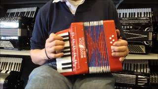 WSTOYR - Red Woodstock Toy Piano Accordion 8 $35