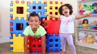 Peek a Boo Song   Leah Pretends Play with Anwar   Kids Songs Nursery Rhymes