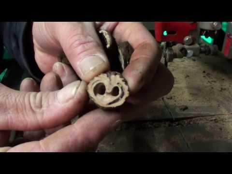 WTF DUDE!! DANGEROUS! how to, DIY!! crafting walnut buttons