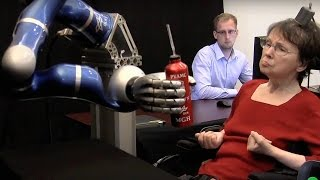 Paralyzed Woman Controls Robotic Arm With Thoughts | Dara Ó Briain's Science Club | Brit Lab | BBC
