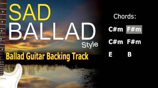 Sad Ballad Guitar Backing Track 60 Bpm Highest Quality