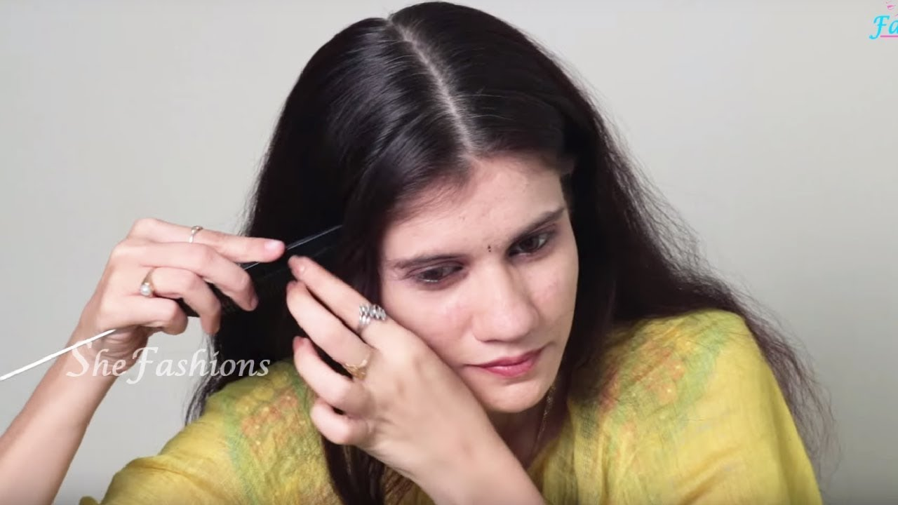2 Minutes Self Hairstyle For Long Hair Easy Hairstyle For Party Hairstyle For Occasion