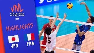 JAPAN vs. FRANCE -  Highlights Men | Week 1 | Volleyball Nations League 2019