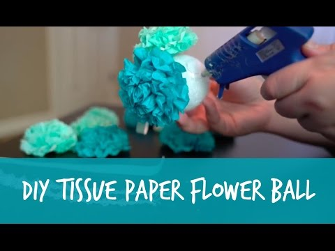Diy tissue paper flower pomander ball tutorial youtube diy tissue paper flower pomander ball tutorial mightylinksfo