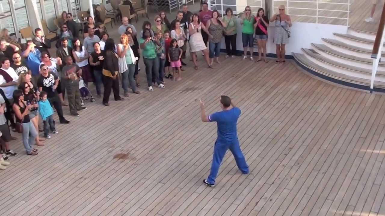 Carnival Cruise Ship Dancing Fun On Deck !!. - YouTube