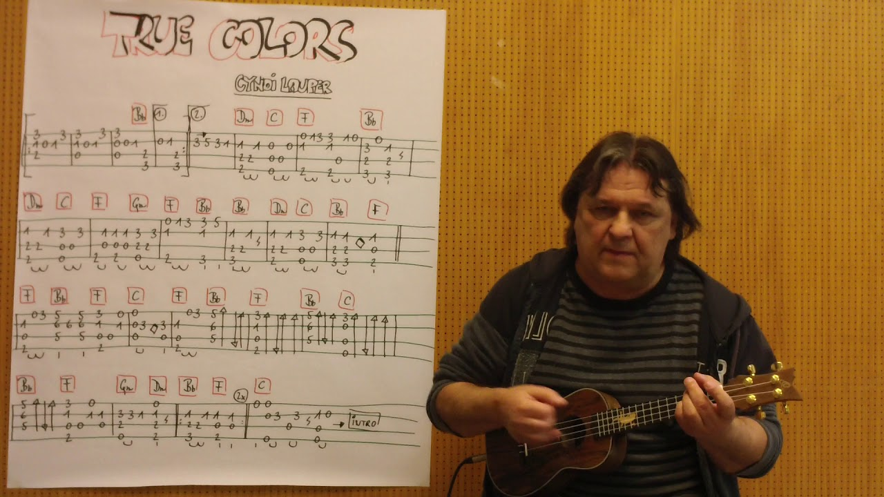 True colors fingerstyle guitar [tabs] youtube.