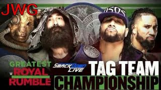 WWE 2K18 SIMULATION GREATEST ROYAL RUMBLE SMACKDOWN TG CHAMPION BLUDGEON BROTHERS VS THE USOS