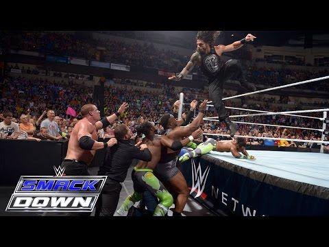 Dean Ambrose & Roman Reigns vs. Kane & Seth Rollins: SmackDown, May 28, 2015 thumbnail
